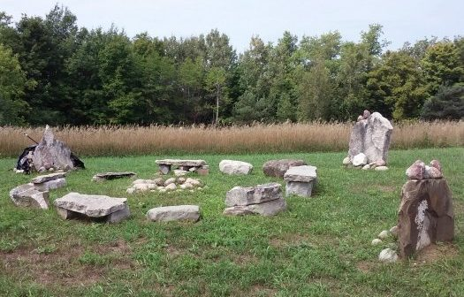 stone circle at Kripalu Yoga Center, NNY