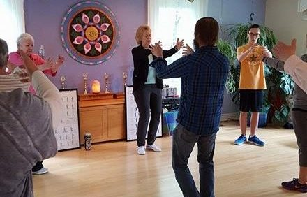 Laurie teaching Tai Chi